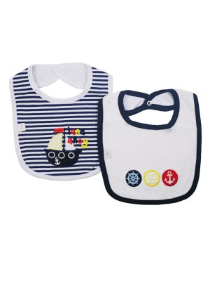 Kit Babador Boats Azul Marinho Be Little