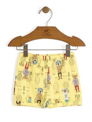 Short Vintage Dogs Amarelo Up Baby
