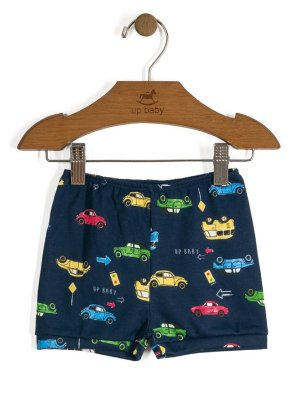 Short Vintage Carros Azul Up Baby