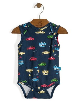 Body Regata Vintage Carros Azul Up Baby