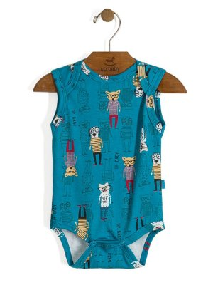 Body Regata Vintage Dogs Azul Up Baby
