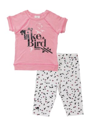 Conjunto Blusa e Calça Capri Like Bird Up Baby