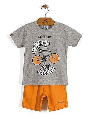 Conjunto Camiseta e Bermuda Let`s Go Up Baby