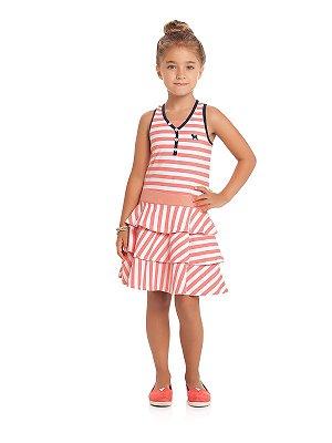 Vestido Alças Listras Linha Fast Fashion Charpey
