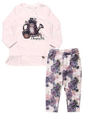 Conjunto Blusa Regador e Calça Floral Charpey