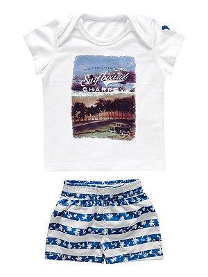 Conjunto Bermuda e Camiseta Surfboard Charpey