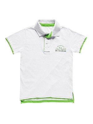 Camisa Polo em Malha Manga Curta Estampada Charpey