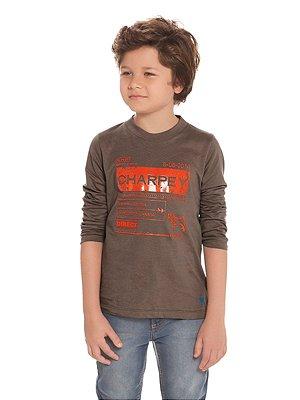 Camiseta em Malha com Gel Manga Longa Charpey