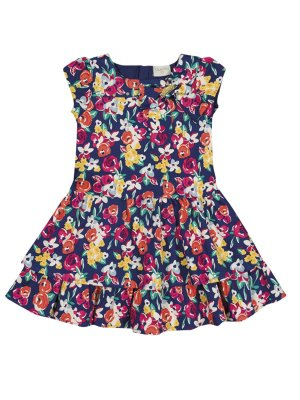 Vestido em Sarja Floral Quimby