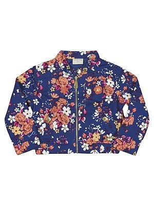 Jaqueta em Sarja Floral Quimby