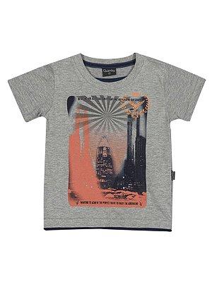 Camiseta Enjoy the Adrenaline em Meia Malha Manga Curta Quimby
