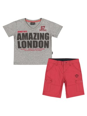 Conjunto Amazing London Camiseta Malha e Bermuda Popeline Quimby