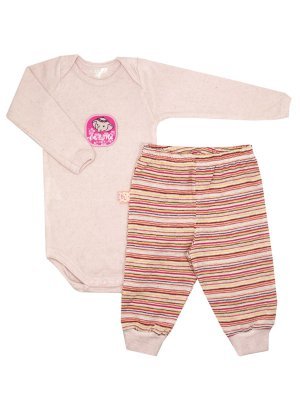 Conjunto Body e Calça Pine Rosa Manga Longa Be Little