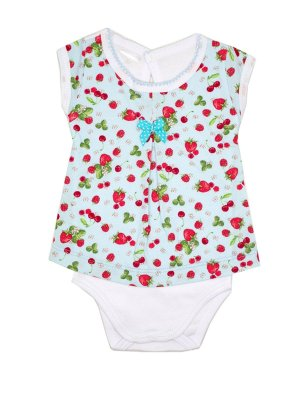 Body Vestido Strawberries Azul Be Little