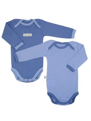 Conjunto 2 Bodies Manga Longa Azul Be Little