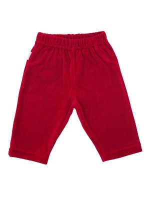 Calça em Plush Velour Vermelha Be Little