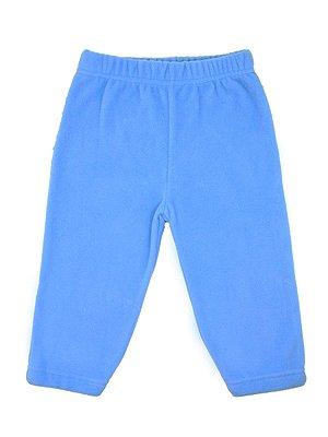Calça em Micro Soft Azul Be Little