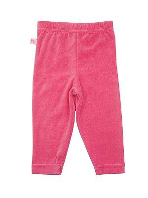 Calça Legging em Plush Rosa Be Little