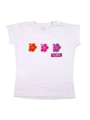 Camiseta Manga Curta Hibiscus Be Little