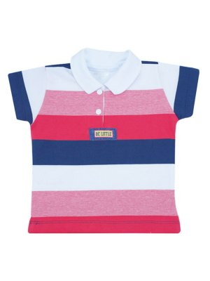 Camisa Polo em Piquet Listrada Be Little