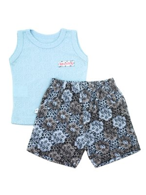 Conjunto Regata e Shorts Fresh Flower Be Little