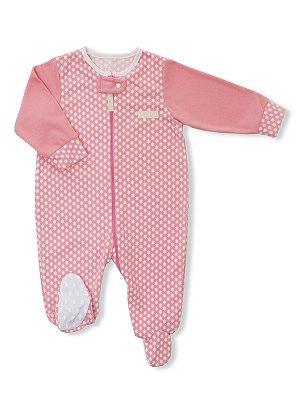 Pijama Macacão em Micro Soft Zíper Be Star Rosa Be Little