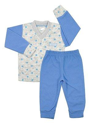 Pijama em Micro Soft Droideka Azul Be Little