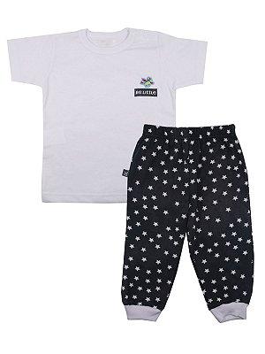 Pijama em Meia Malha Camiseta e Calça Jungle Be Little