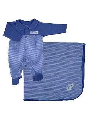 Saída de Maternidade em Suedine Aloha Azul Be Little