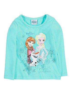 Blusa em Cotton Manga Longa Frozen Brandili