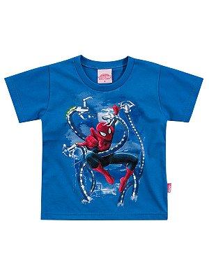 Camiseta em Meia Malha Manga Curta Homem Aranha Brandili