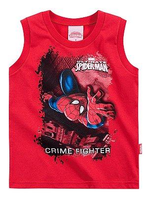 Regata em Meia Malha Crime Fighter Homem Aranha Brandili