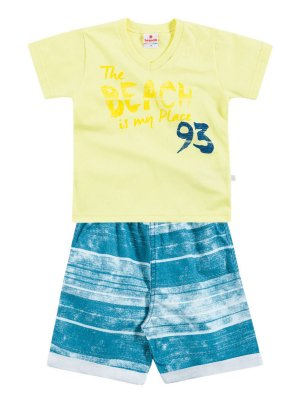 Conjunto Camiseta em Malha e Bermuda The Beach Brandili