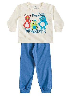 Pijama Blusão e Calça em Moletinho My Little Monsters Brandili
