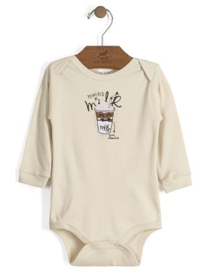Body em Suedine Manga Longa Powered by Milk Up Baby