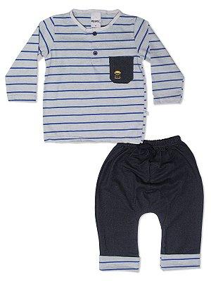 Conjunto Camiseta Manga Longa e Calça Saruel Minore