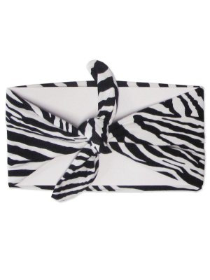 Faixa Turbante Zebra Menina Flor