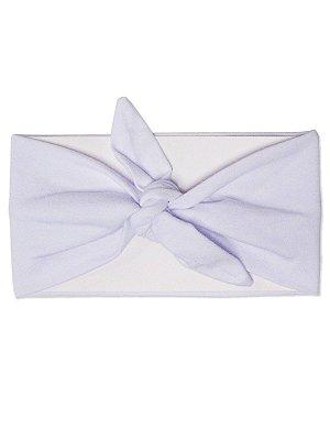 Faixa Turbante Branco Básico Menina Flor