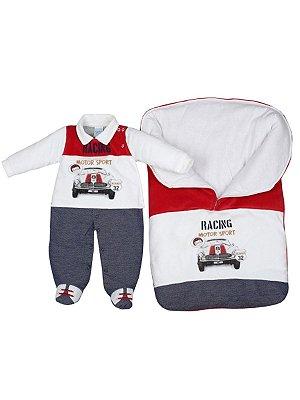 Saída de Maternidade em Plush Racing Sonho Meu