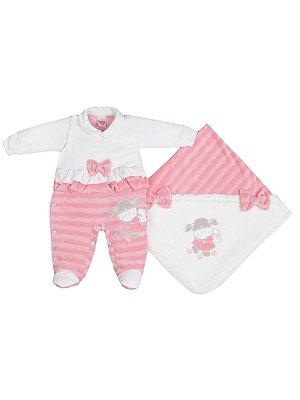Saída de Maternidade em Plush Mamando Bebê Menina Sonho Meu