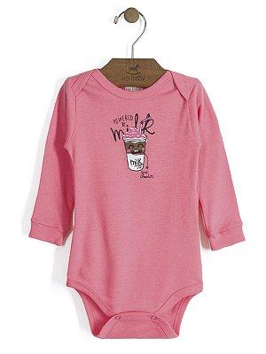 Body em Suedine Manga Longa Powered by Milk Rosa Up Baby