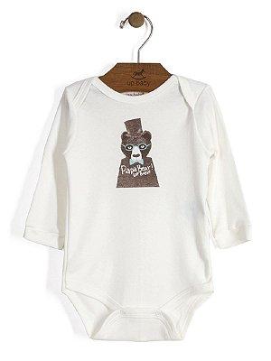 Body em Suedine Manga Longa Papa Bear Up Baby