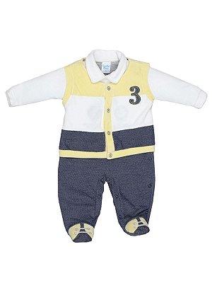 Macacão em Plush 3 Bebê Menino Sonho Meu