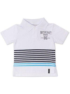 Camisa Polo em Malha Branca Minore