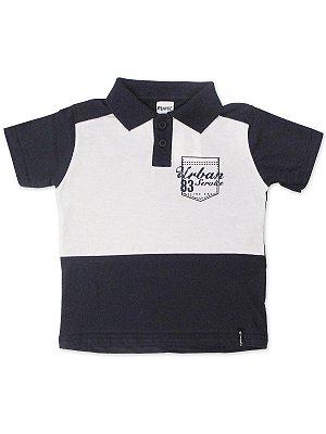 Camisa Polo em Malha Urban Marinho Minore