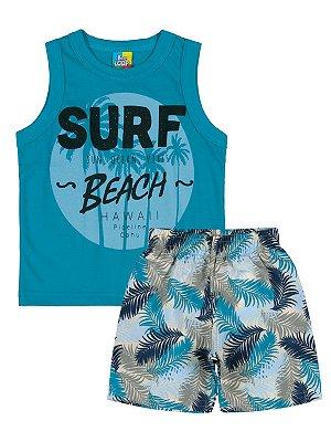 Conjunto Bee Loop Regata e Bermuda Surf Azul