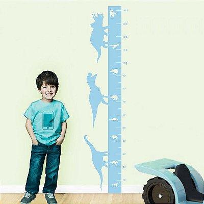 Adesivo de Parede Infantil Medidor Reguinha Dino Stixx