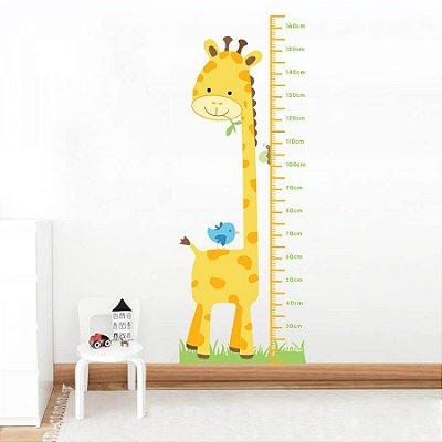Adesivo de Parede Infantil Medidor Reguinha Amiga Girafa Stixx