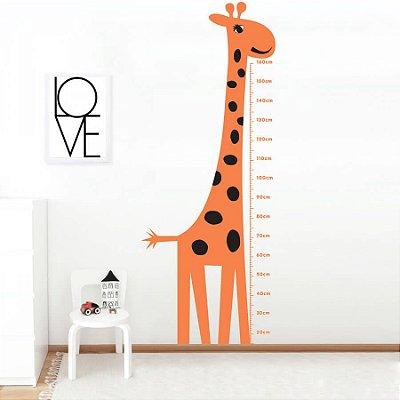 Adesivo de Parede Infantil Medidor Reguinha Girafa Stixx