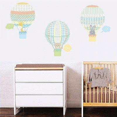 Adesivo de Parede Infantil Balloon Menino Stixx
